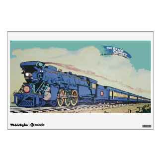 The New Jersey Central Blue Comet Train Wall Sticker