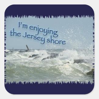 The New Jersey Shore Square Sticker