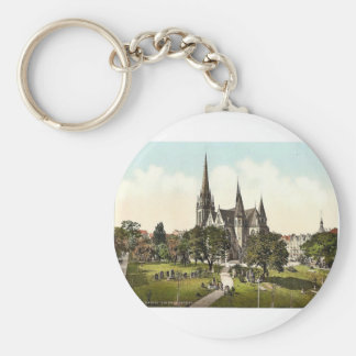 The New Luther Church, Cassel (i.e., Kassel), Hess Basic Round Button Keychain