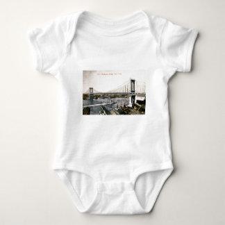 The New Manhattan Bridge ca. 1909-10 Baby Bodysuit