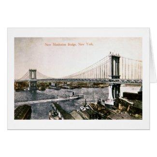 The New Manhattan Bridge ca. 1909-10 card