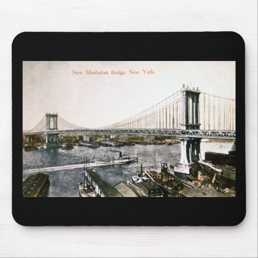 The New Manhattan Bridge ca. 1909-10 Mouse Pads