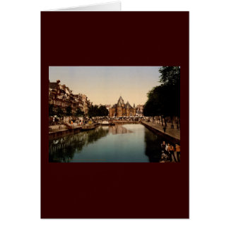 The new market and bourse Amsterdam Greeting Cards