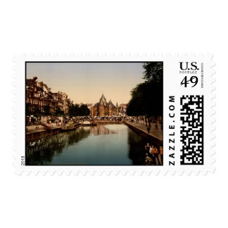 The new market and bourse Amsterdam Postage Stamps