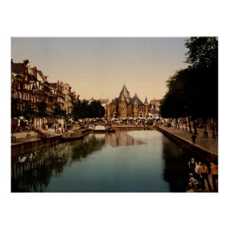 The new market and bourse Amsterdam Poster
