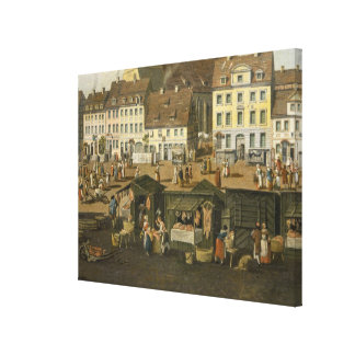 The New Market in Berlin with the Marienkirche Stretched Canvas Print