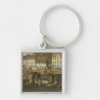 The New Market in Berlin with the Marienkirche Key Chain