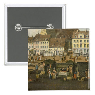 The New Market in Berlin with the Marienkirche Pinback Button