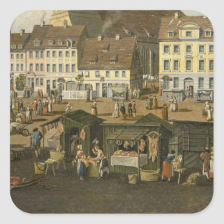The New Market in Berlin with the Marienkirche Stickers