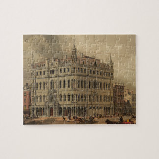 The New Masonic Temple - Boston (1855) Jigsaw Puzzle