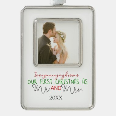 The New Mr. & Mrs. Photo Christmas Ornament