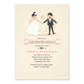 The New Mr. & Mrs. Post Wedding Brunch Invitation