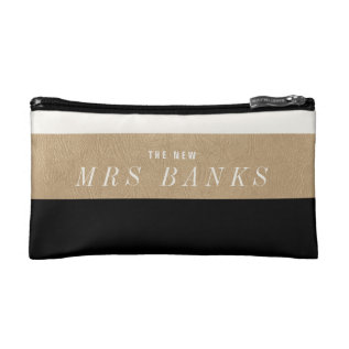 The New Mrs. Black Makeup Bag at Zazzle
