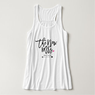 The New Mrs. Est. Your Wedding Year Tank Top
