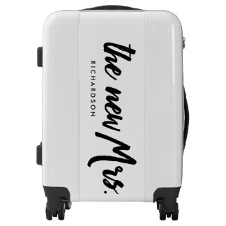 The New Mrs. | Modern Typography for the New Bride Luggage