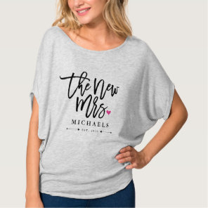 The New Mrs. (Name) Est. Your Wedding Year T-Shirt