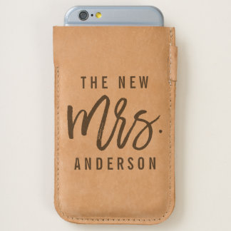 The New Mrs Personalized Bride iPhone 6/6S Case
