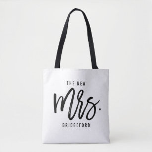 The New Mrs Personalized Bride Tote Bag