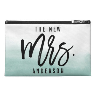 The New Mrs Personalized Bride Travel Accessory Bags