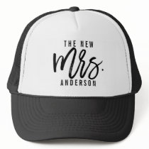 The New Mrs Personalized Bride Trucker Hat