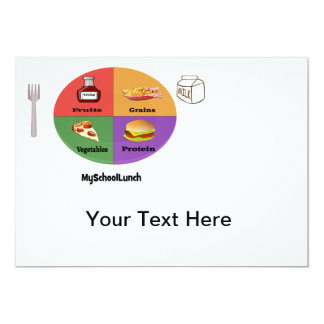 """The New, New Four Food Groups 5"""" X 7"""" Invitation Card"""