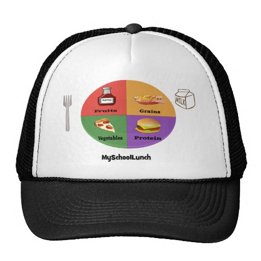 The New, New Four Food Groups Trucker Hat