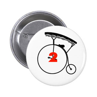 The New Number 2 2 Inch Round Button