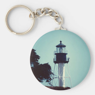 The New Point Loma Lighthouse (in color) Basic Round Button Keychain