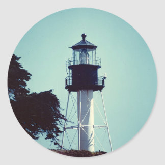 The New Point Loma Lighthouse (in color) Classic Round Sticker