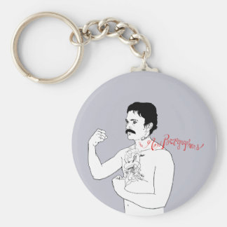 The New Pornographers Grey Boxer Keychain
