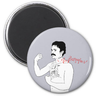 The New Pornographers Grey Boxer 2 Inch Round Magnet