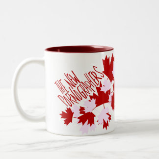 The New Pornographers Oh Canada! Two-Tone Coffee Mug