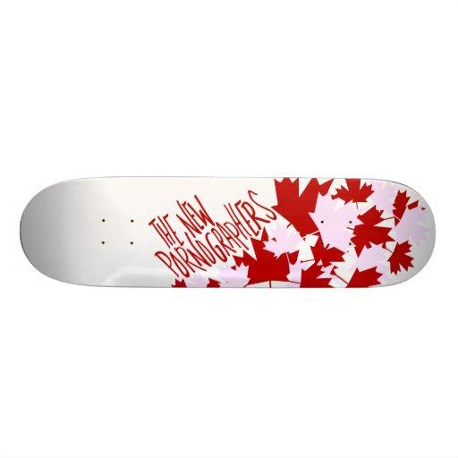 The New Pornographers Oh Canada! Skateboard