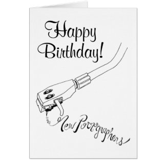 The New Pornographers Record Arm Greeting Card