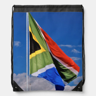 The New, Post-1994 South African Flag Flying Drawstring Bags