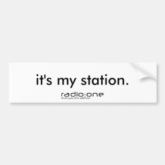 The new radio:one Sticker Car Bumper Sticker