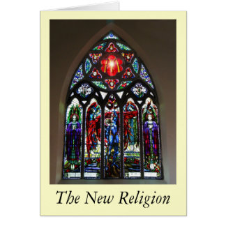 The New Religion Greeting Card