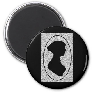 The New silhouette Of Jane Austen Magnet
