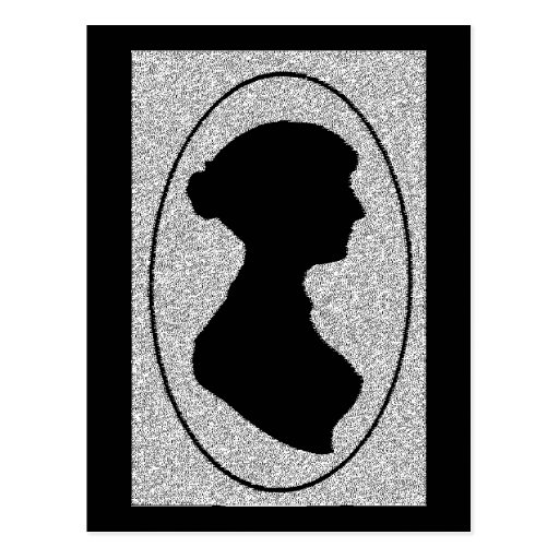 The New silhouette Of Jane Austen Post Card
