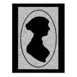 The New silhouette Of Jane Austen Postcard