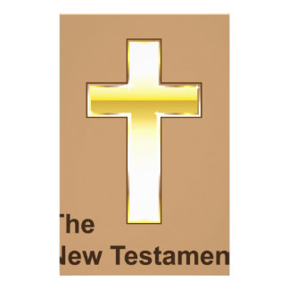 The New Testament Golden cross Stationery