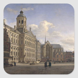 The New Town Hall, Amsterdam, 1668 Square Sticker