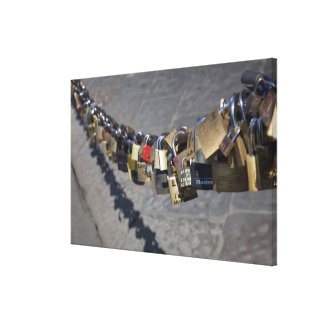 the new tradition of 'locks of love' attached by gallery wrap canvas