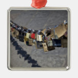 the new tradition of 'locks of love' attached by metal ornament