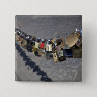 the new tradition of 'locks of love' attached by pinback button