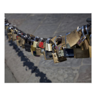 the new tradition of 'locks of love' attached by poster