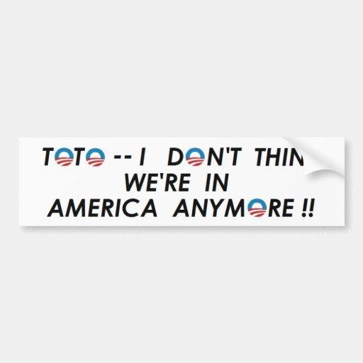 The   NEW   U.S.  of  A. Bumper Sticker