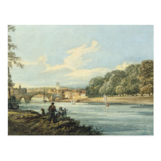 The New Walk, York, c.1798 (pencil and w/c on pape Postcard