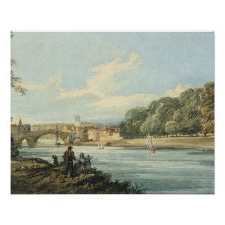 The New Walk, York, c.1798 (pencil and w/c on pape Poster