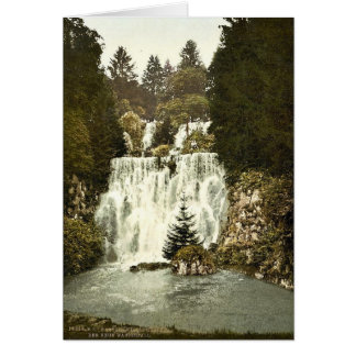 The New Waterfall, Wilhelmshohe, Cassel (i.e., Kas Greeting Card